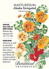Nasturtium Alaska Variegated HEIRLOOM Seeds